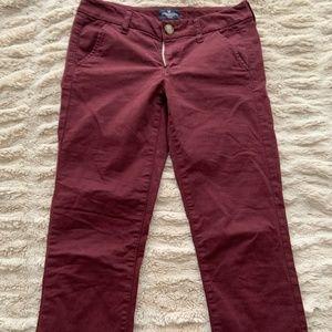 Maroon Straight Leg Jeans